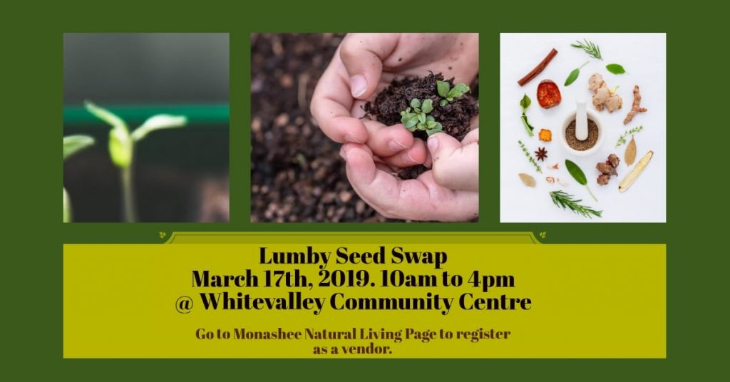 Food Action at Lumby Seed Swap @ Whitevalley Community Centre