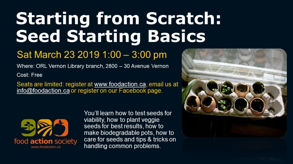 Starting from Scratch: Seed Starting Basics @ Vernon ORL