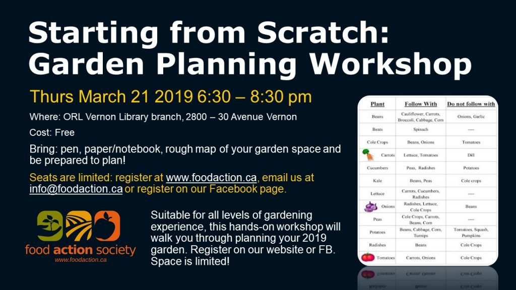 Starting from Scratch: Garden Planning Workshop @ Vernon ORL