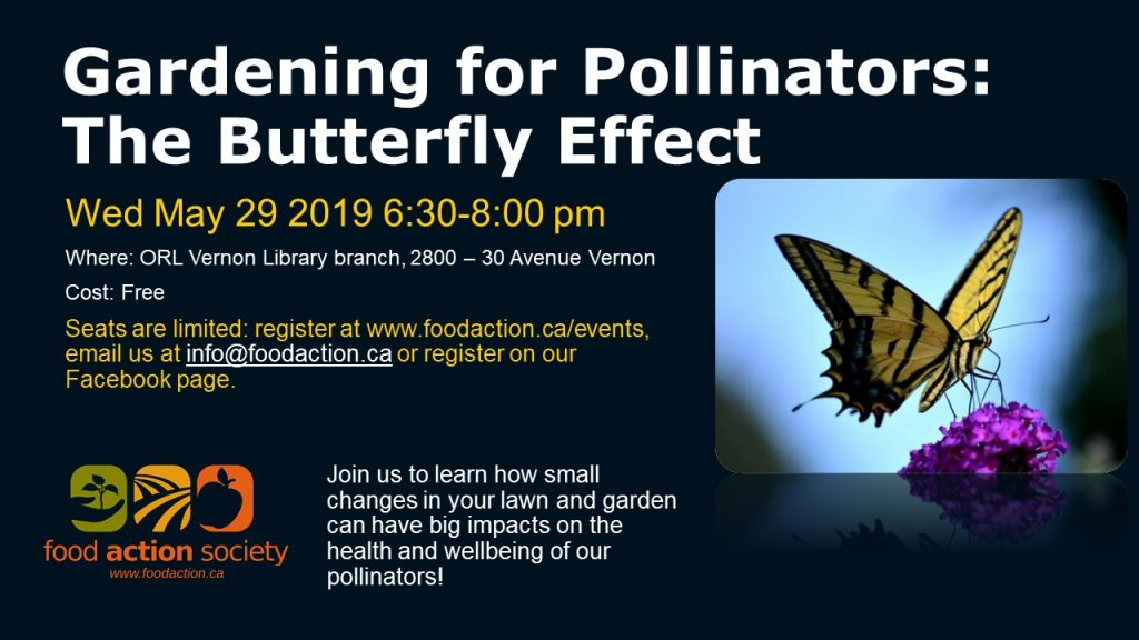 Gardening for Pollinators: The Butterfly Effect @ Vernon ORL