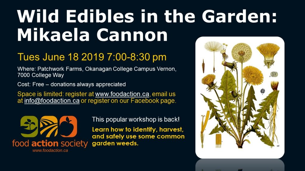 Wild Edibles in the Garden: Mikaela Cannon @ Okanagan College Vernon