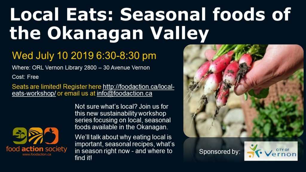 Local Eats: Seasonal Foods of the Okanagan Valley @ Vernon ORL
