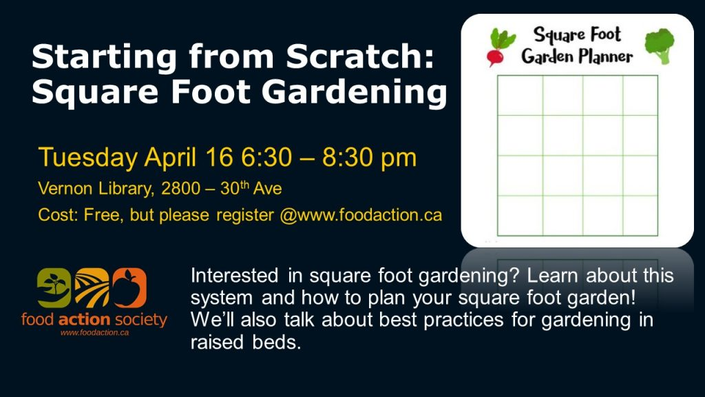 Starting from Scratch: Square Foot Gardening plus Raised Bed Basics @ Vernon ORL